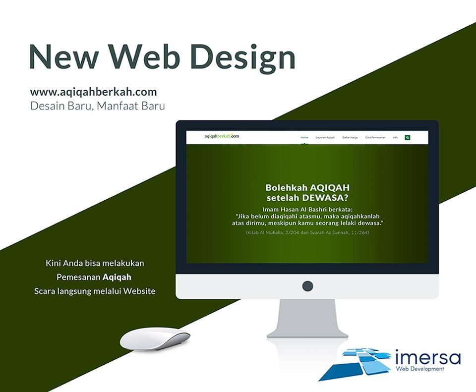 Desain Web Aqiqah Berkah